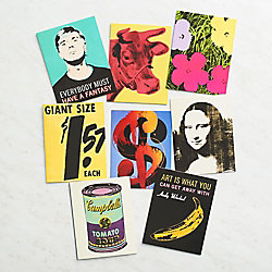 Andy Warhol Artwork Stationery Cards - Set of 16