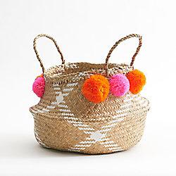 Pink Pom Pom Basket