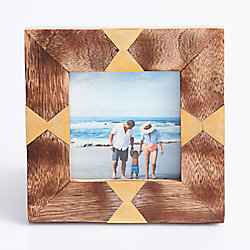 Square Wood Aztec Frame