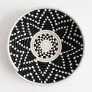 Black and Cream Handmade Basket