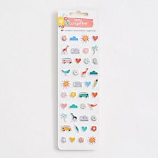 Travel Puffy Stickers