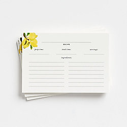 kate spade new york Lemon Recipe Cards
