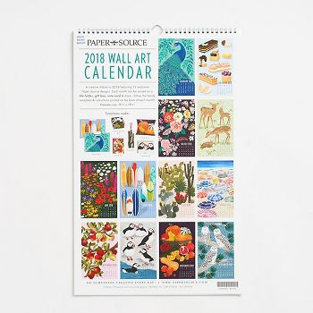 2018 Wall Art Calendar Paper Source