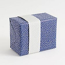 Navy Flurry Wrapping Paper