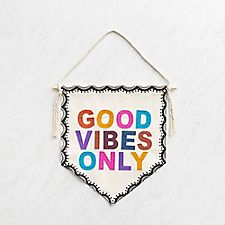 Good Vibes Wall Pennant