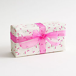 Bitsy Pink Cherries Wrapping Paper