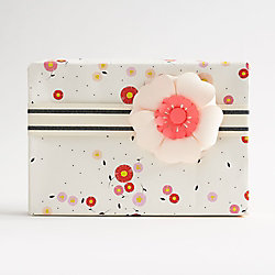 Astrid Floral on White Wrapping Paper