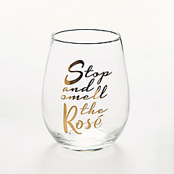 Stop & Smell the Rosé Glass