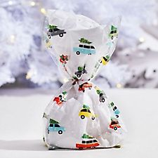 Vintage Cars and Christmas Trees Cello Bag