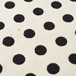 Black Velvet Polka Dot on Natural Fine Paper