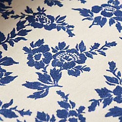 Blue Velvet Floral on Natural Fine Paper
