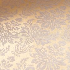 White Velvet Damask on Gold Fine Paper