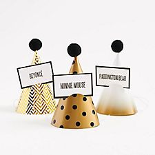 Gold Mini Party Hats and Games