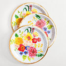 Floral Stripe Large Plate