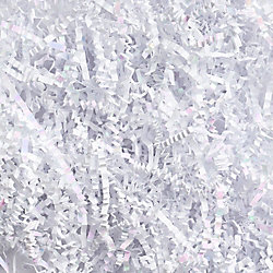 White Iridescent Shredded Paper