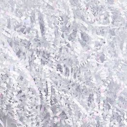 White Iridescent Shredded Paper