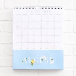 2018-2019 Floral Vines Pocket Calendar