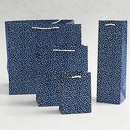 Navy Flurry Gift Bags