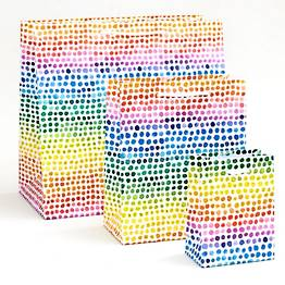 Watercolor Rainbow Dot Gift Bags