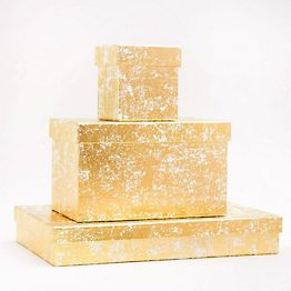 Crushed Gold Gift Boxes