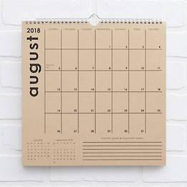 2018-2019 Classic Grid Calendar