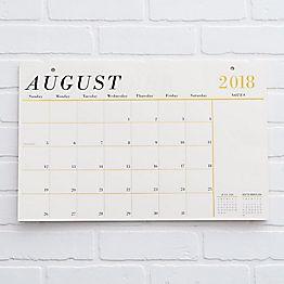 2018-2019 Foil Blotter Calendar