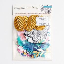 Leaves, Flowers and Butterfly Ephemera Pack