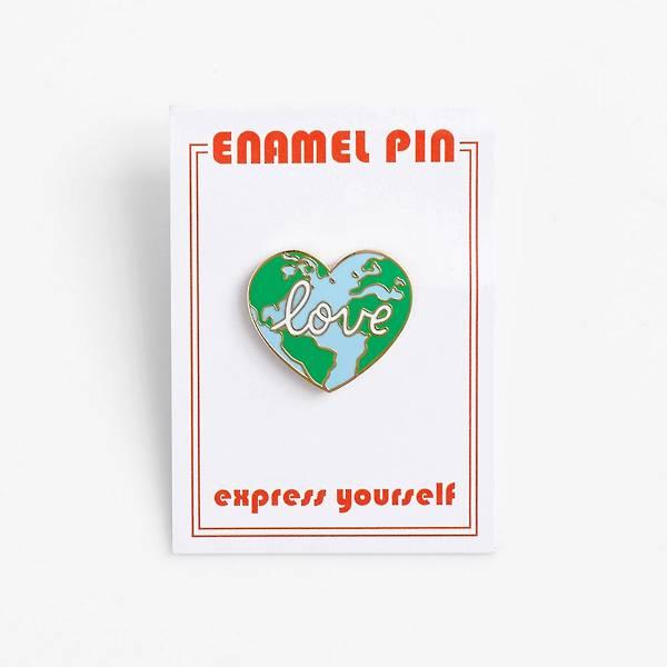 Love The World Enamel Pin