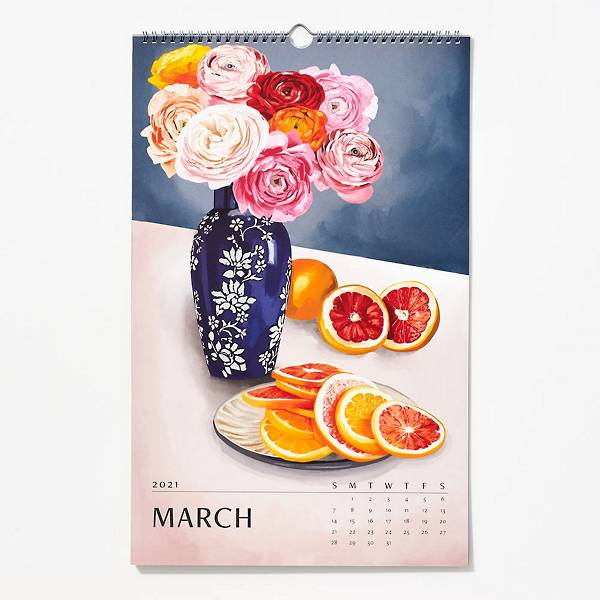 2021 Paper Source Wall Art Calendar