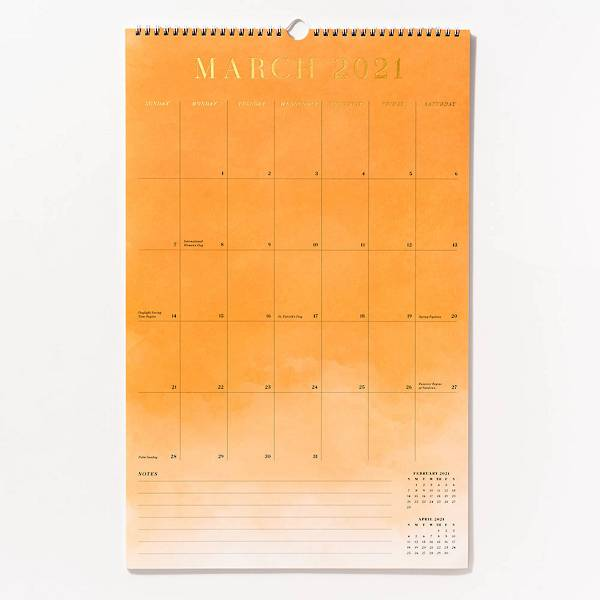 Foil Watercolor Calendar