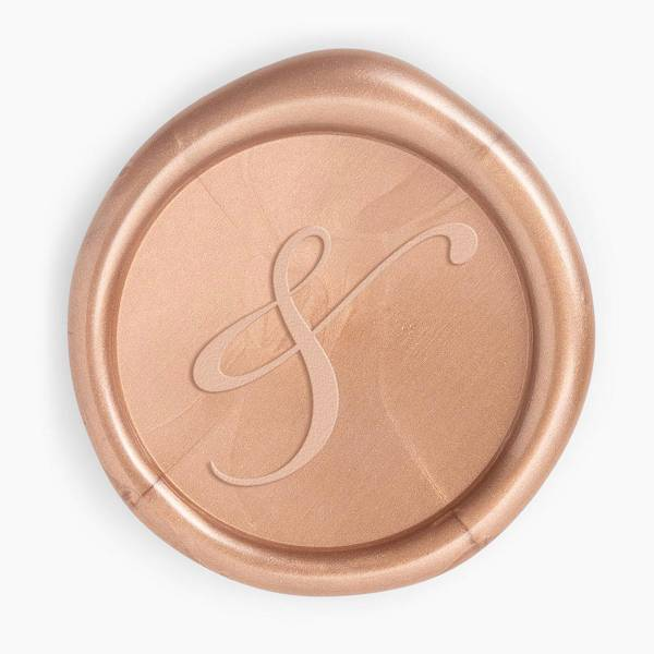 Rose Gold Ampersand Wax Seal.