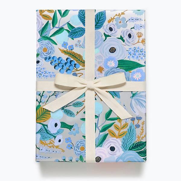 Garden Party Blue Gift Wrap