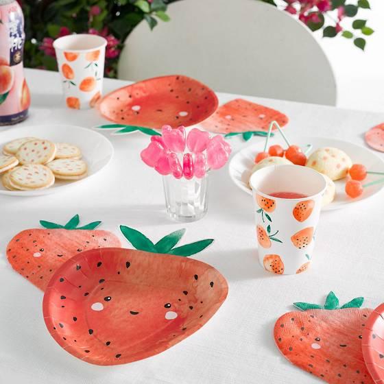 Strawberry Fields shaped plates.