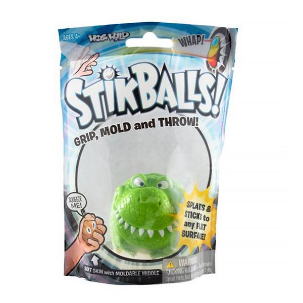 Sticky T-Rex features a sticky outer surface and a mold-able middle.