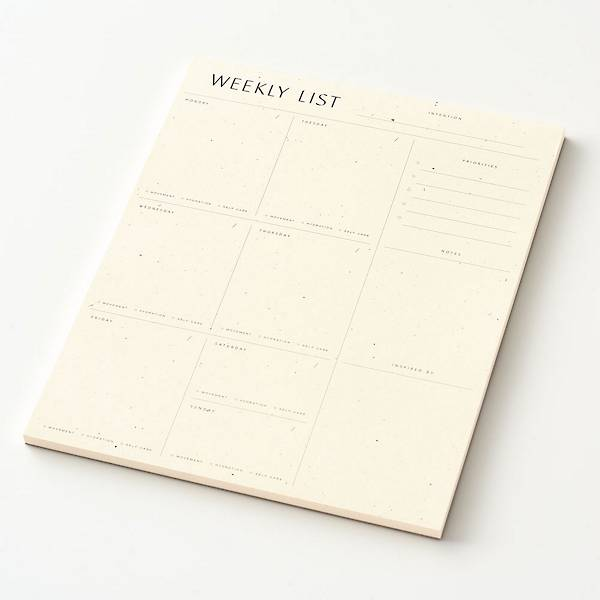 Minimal Weekly Notepad.