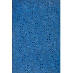 Black & Blue Modern Wave Fine Paper