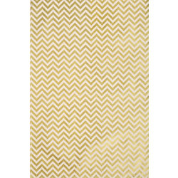 Lokta Chevron Gold On Cream Fine Paper