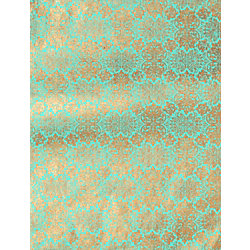 Lokta Far East Gold on Turquoise Fine Paper