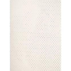 Silver Foil Stars on Cream Fine Paper