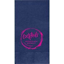Cocktail Splash Custom Guest Napkins