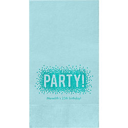 Confetti Party Custom Guest Napkins