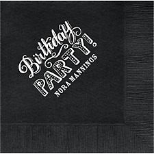 Chalk Birthday Party Custom Lunch Napkins
