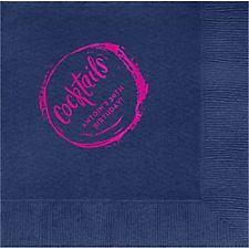 Cocktail Splash Custom Lunch Napkins