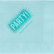 Confetti Party Custom Lunch Napkins