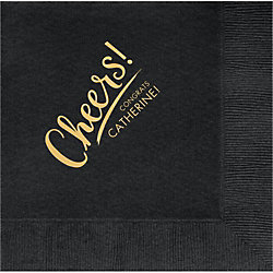Cheers Swoosh Custom Lunch Napkins