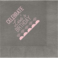 Celebrate Scallops Custom Lunch Napkins