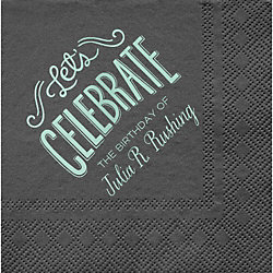 Let's Celebrate Custom Cocktail Napkins