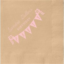 Rustic Banner Party Custom Cocktail Napkins