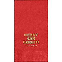 Budmo Merry & Bright Custom Guest Napkins