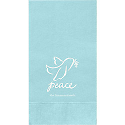 Peace Dove Custom Guest Napkins